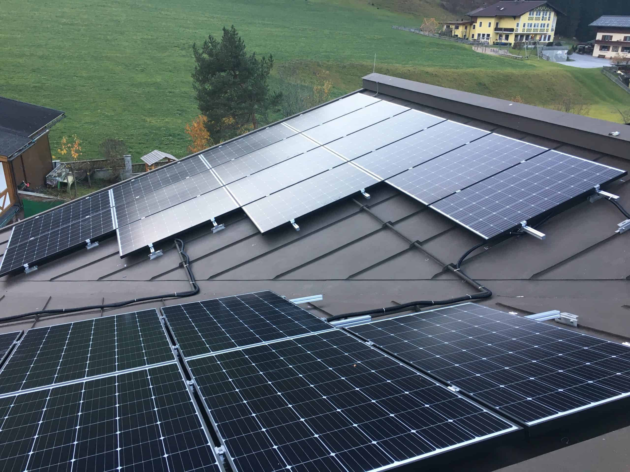 Here you can see the photovoltaic system from the Hotel Ennskraxblick in Kleinarl.